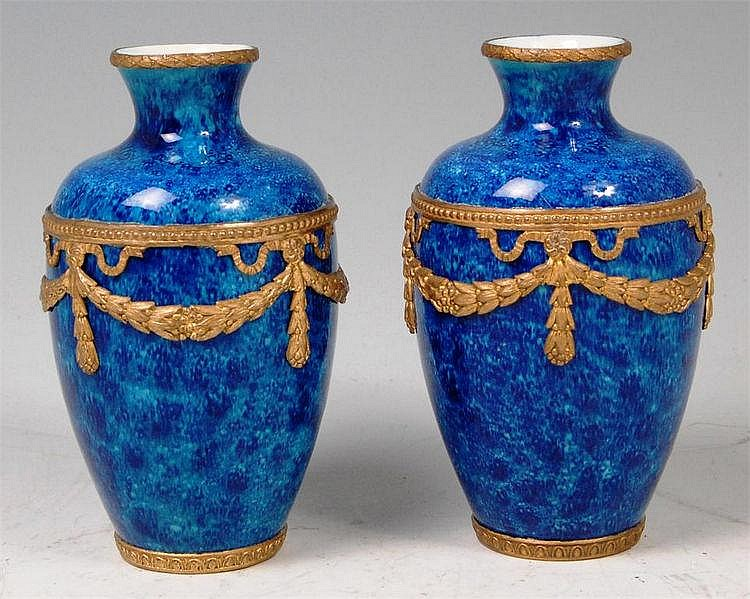 A Paul Milet (1870-1950) pair of porcelain