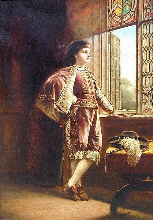 John Robert Dicksee (1817-1905) - Waiting an