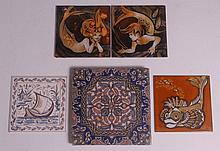 A pair of Pilkingtons Lancastrian tiles,