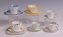A collection of 1930s bone china teawares by
