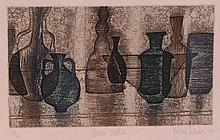Valerie Thornton (1931-1991) - Green bottles,