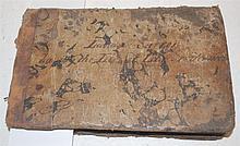 Manuscript Notebook, approx 11.5 x 18cm oblong