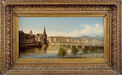 Johann Wilhelm JANKOWSKI (1825-1870) Vue de