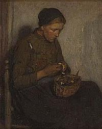 Harold KNIGHT (1874 - 1961) Oil on canvas The