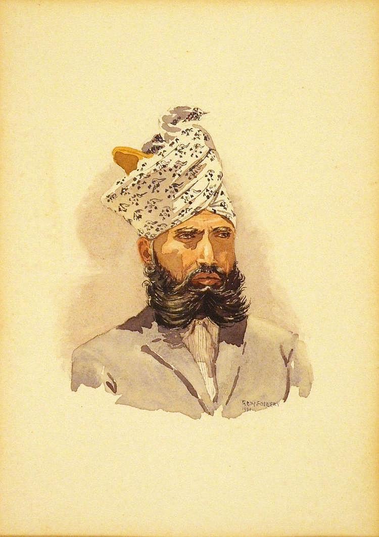 Ernest G. M. FOSBERY (1874 - ?) Watercolour Half