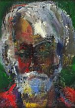 * Sven BERLIN (1911-1999), Oil on canvas, Self Portrait, Signed with monogr