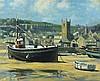 * Frank JAMESON (1898-1968), Oil on canvas board, 'Scrubbing the hull' - St, Frank Jameson, £320