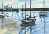 * Ken HOWARD (b.1932), Watercolour, Boats Newlyn harbour, Signed & dated (1, Ken Howard, £400