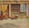 * Frank BRANGWYN (1867-1956), Watercolour, 'Fruit Shop in Bruges', Unsigned, Sir Frank Brangwyn, £60
