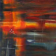 * David LANGSWORTHY (b.1942), Oil on board, 'Fading Light Cornwall No.2', I