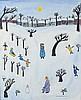* Dora HOLZHANDLER (1928-2015), Oil on board, 'The Park in Winter', Inscrib, Dora Holzhandler, £700