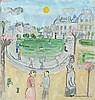 * Dora HOLZHANDLER (1928-2015), Watercolour & gouache, 'Jardin d'Luxembourg, Dora Holzhandler, £200