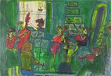 * Ray AMBROSE (1926-1989), Mixed media, 'Celebration - Kathy's Sextet - (Di