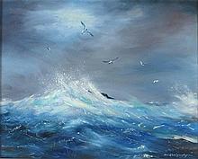 David LANGSWORTHY (b.1942), Oil on canvas, Black h