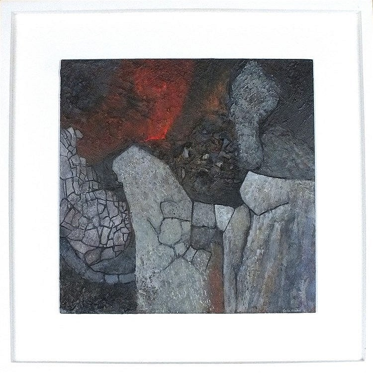 Colin BIRCHALL (1948-2014), Mixed media on panel w