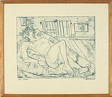 * Ray AMBROSE (1927-1989), Soft ground etching, 'S