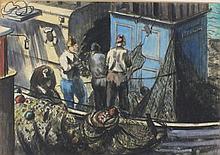 * Marjorie MORT (1906-1989), Charcoal, pastel & wa