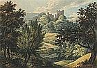 19th Century English School, Two rural landscapes - castle views, Unsigned (probably by the same hand), 6.5