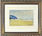 Thomas Cooper GOTCH (1854-1931), Watercolour, Incoming Tide on the Cornish Coast (Holywell Bay), Signed, 5.25