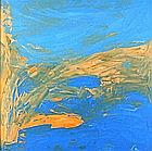 Chris BILLINGTON (b.1955), Acrylic on canvas, 'Islands in the Sun', Inscribed, signed & dated 2008 to stretcher, 30