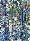 Sean HAYDEN (b.1979), Oil on canvas, 'Helston, Church Street', Signed on label to verso, Framed & glazed, 24