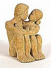Theresa GILDER (b.1935), Stoneware Sculpture, 'May I Tempt You?', Inscribed on label to verso, 10.5