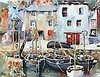 * Greville IRWIN (1893-1947), Watercolour, Boats in a Cornish Harbour, possibly Polperro, Signed, 11.5
