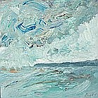 David AXTELL (b.1970), Oil on board, 'Helford Skies', Inscribed to verso, Signed, 8