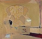 * Marie-Claire HAMON (20th / 21st Century), Oil on canvas, 'Armchair', Inscribed, signed & dated 2001 to verso, Signed & dated 2001, Unframed, 28.75