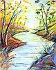 * Joe ARMSTRONG (20th / 21st Century Cornish School), Oil  on canvas, Sunlit Woodland Stream, Circa 2017, Signed with monogramme, 39