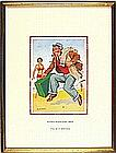 * Donald MCGILL (1875-1962), Watercolour with bodycolour, 'I've Just Arrived', Inscribed to verso, Signed, 8.75