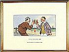 * Donald MCGILL (1875-1962), Watercolour with bodycolour, 'We're Having a Clinking Time', Inscribed to verso, Signed, 5.25