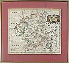 Robert MORDEN (1650-1703), 17th Century engraved Map with hand colouring, 'Worcester Shire' (Worcestershire) from Edmund Gibson's 'Camden's Britannia' published 1695, 14.75
