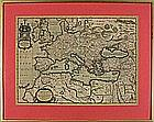 Nicholas BLANCARDUS (BLANKAART), (17th Century Dutch School), 17th C. engraved Map with hand colouring, Europe - 'Europa Antiqua cum finitimis Africae regionibus …', 14.25