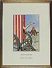 * Donald MCGILL (1875-1962), Watercolour with bodycolour, 'Nothing More At Present', Inscribed to verso, Signed, 9.25
