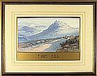 Thomas HART (1830-1916), Watercolour, Welsh mountain scene with horse & cart in foreground, Signed, 9.5