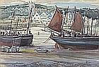 L* G*? (20th Century English School), Watercolour, 'St Ives Harbour', Signed with initials & dated 1930, 10