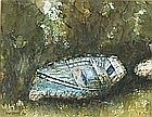 * Gordon COUCH (b.1944), Watercolour, Boat on grassy bank, Fowey, Signed & dated 1994, 7