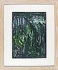 Clive DANIELS (20th / 21st Century), Oil on board, Abstract in greens, Signed to verso, 15.75