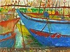 * Jim WHITLOCK (b.1944), Gouache, 'Fishing Boats Sri Lanka', Inscribed, signed & dated (20)13 to verso, 17.25