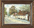 A* RUST (20th Century English School), Oil on canvas, Hawkes Farmhouse - The Thatched Cottage, Alverton Road, Penzance, Signed, 11.5