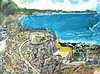 Roy DAVEY (b.1946), Acrylic on canvas board, Matinee Performance - The Minack Theatre, Porthcurno, Cornwall, Signed ROY, 11.5