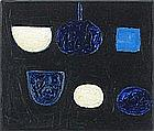In the manner of William SCOTT (1913-1989), Oil on canvas, Abstract in Blues, 9.5