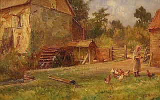 Ernest H. EHLERS (1858 - 1943) Oil on canvas board