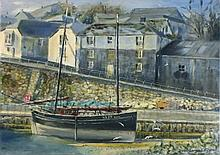 """David LANGSWORTHY (b.1942) Oil on board 'Ripple Newlyn' – fishing boat SS19 Inscribed to verso Signed & dated 2010 10"""" x 14"""" (25.4cm x 35.6cm) GBP"""