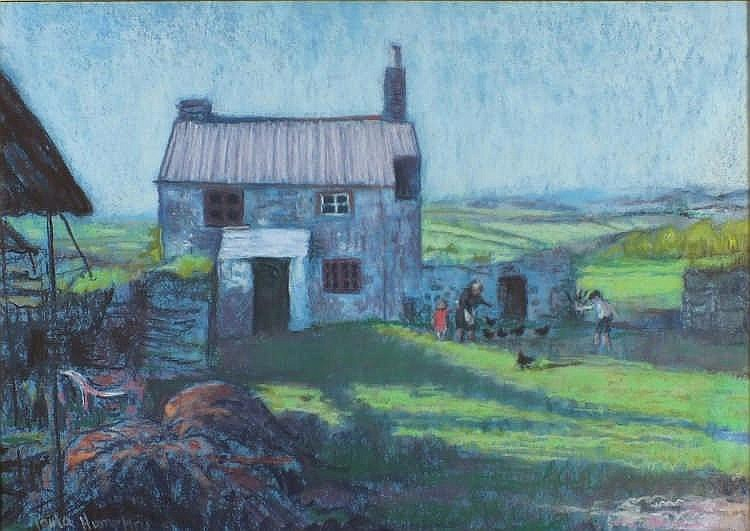 """* Paula HUMPHRIS (b.1934)  Pastel  'Cottage near Roche'  Inscribed & dated 1981 to verso  Signed  17.5"""" x 24.75"""" (44.4cm x 63cm) GBP"""