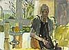 "Pat ALGAR (1939-2013)  Oil on board  Self portrait at Chymorvah  Unframed  12"" x 16"" (30.5cm x 40.6cm) GBP, Pat Algar, Click for value"