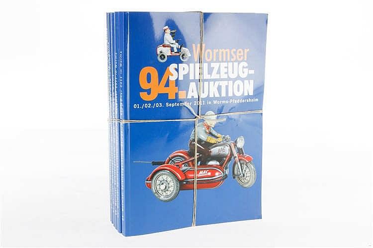 6 Wormser Auktionskataloge