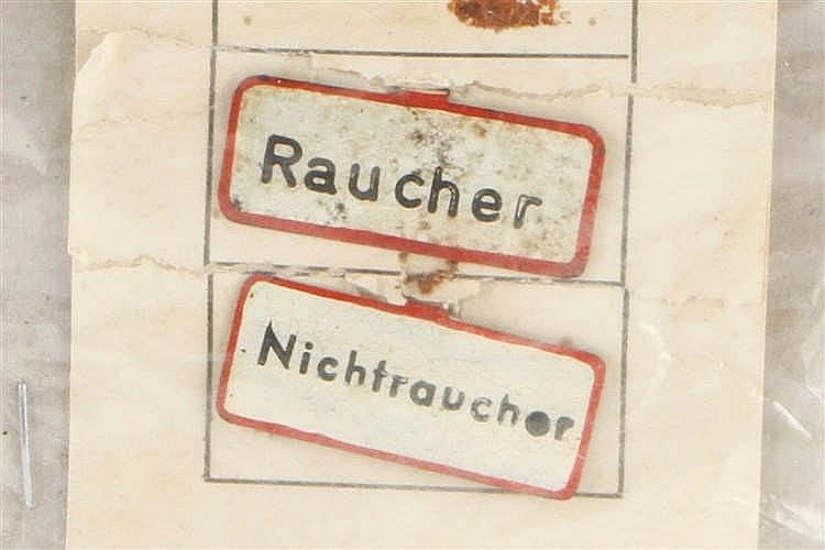 Märklin Karte mit 2 Wagenschildern