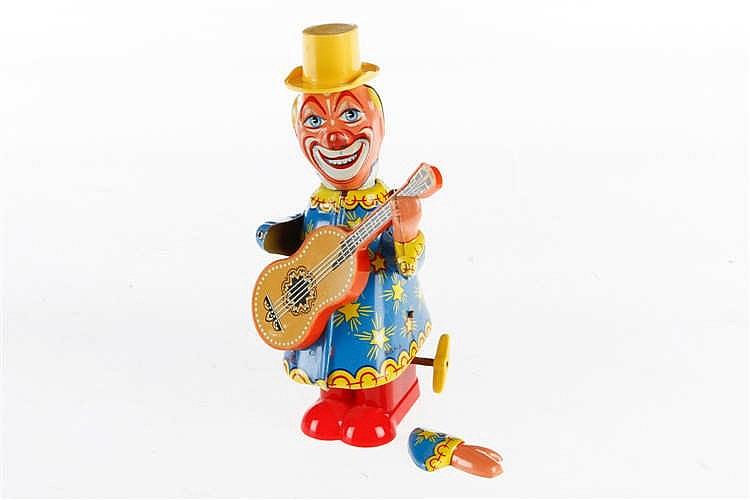 Köhler Uhrwerkfigur Clown mit Gitarre